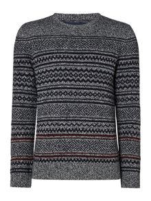 Criminal Flint Fairisle Crew Jumper