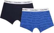 Calvin Klein Boys 2 Pack All-Over Classic Logo Trunks