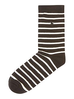 St. James crew strip ankle socks