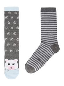Therapy Polar bear cracker socks