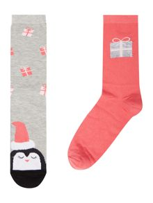 Therapy Penguin cracker 2 pack socks