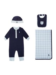 Polo Ralph Lauren Baby Boys 4 Piece All In One Gift Box