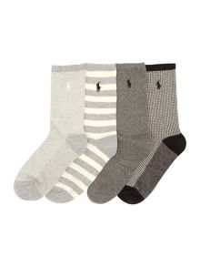 Polo Ralph Lauren 4 pair pack ankle socks gift box