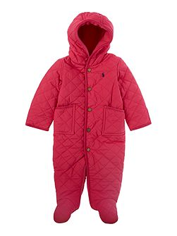 Baby Girls All In One Snow Suit