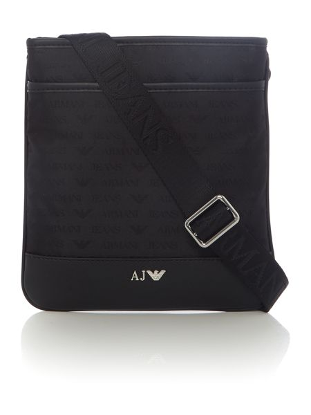 Armani Jeans All Over Logo Jaquard Cross Body