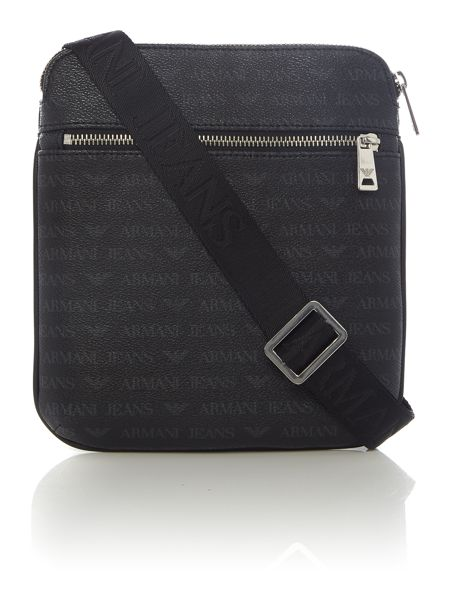 Armani Jeans All Over Logo Small Crossbody
