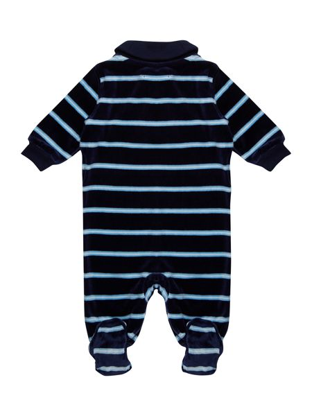Polo Ralph Lauren Baby Boys Velour Rugby Stripe All In One
