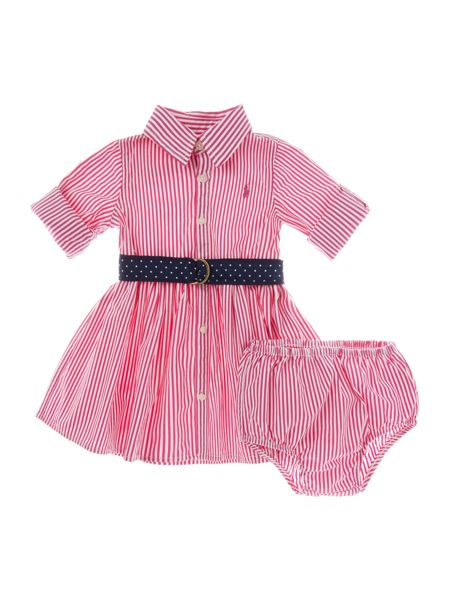 Polo Ralph Lauren Baby Girls Bengal Stripe Shirt Dress