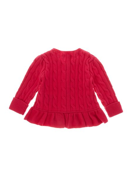 Polo Ralph Lauren Baby Girls Cable Knit Frill Hem Cardigan