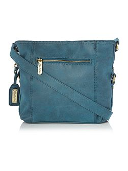 Edna Blue Medium Crossbody Bag