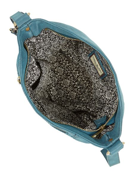 Ollie & Nic Edna Blue Medium Crossbody Bag