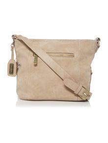 Ollie & Nic Edna Neutral Medium Crossbody Bag