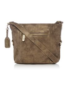 Ollie & Nic Edna Brown Medium Crossbody Bag