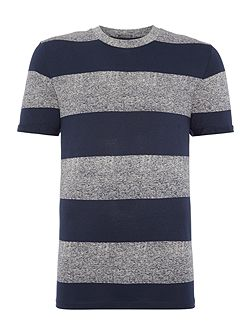 Wide Marl Stripe Short Sleeve T-shirt