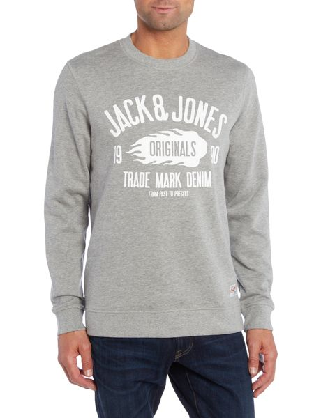 Jack & Jones Large Logo Crew Neck Sweatshirt