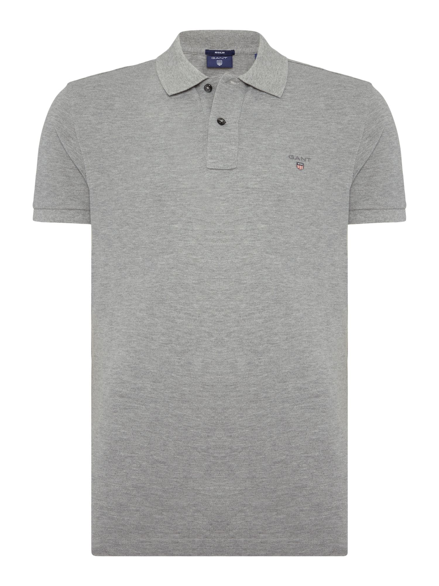Men's Gant Original Pique Short Sleeve Polo, Grey Marl