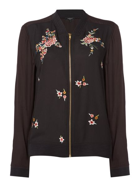 Therapy Farah Floral Embroidered Bomber Jacket