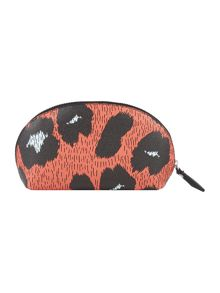 Vivienne Westwood Leopardmania orange make up bag