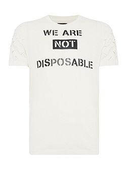 Not disposable slogan print t shirt