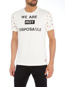 Vivienne Westwood Not disposable slogan print t shirt