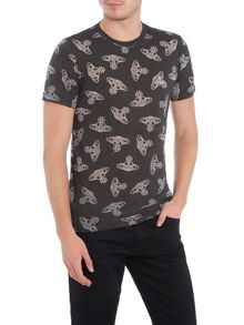 Vivienne Westwood All over print orb print t shirt