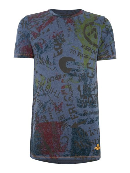 Vivienne Westwood All over typography print t shirt