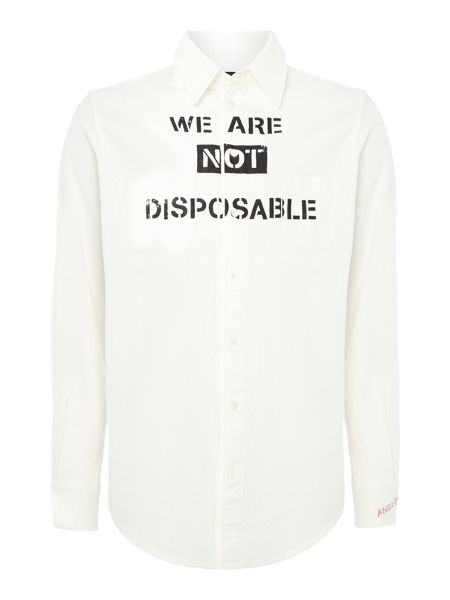 Vivienne Westwood regular fit not disposable slogan shirt