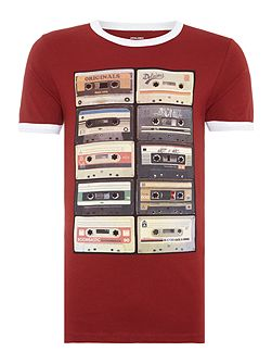 Retro Cassette Crew Neck T-shirt