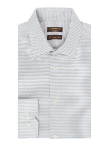 Corsivo Pasara Italian fabric Dogstooth Textured Shirt