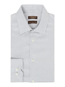Pasara Italian fabric Dogstooth Textured Shirt