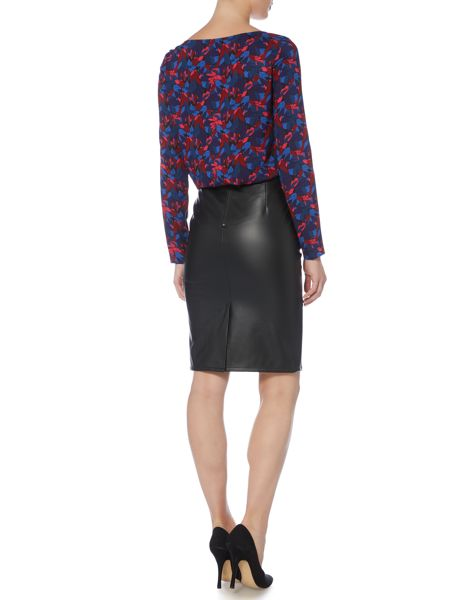 Armani Jeans Allover print asymmetric top