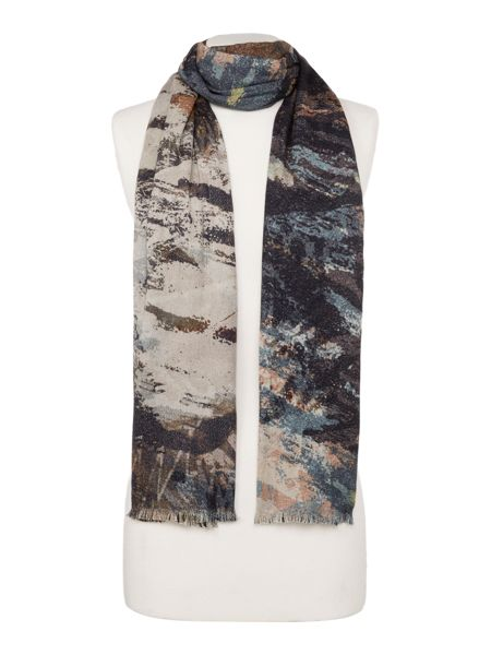 Label Lab Double Sided Painted Print Scarf