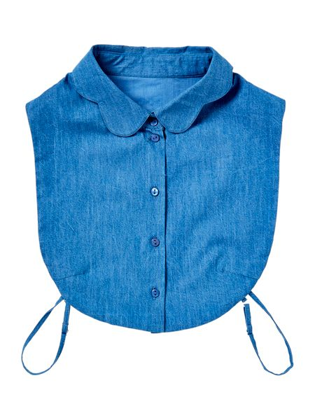 Dickins & Jones Denim Scalloped Collar Bib
