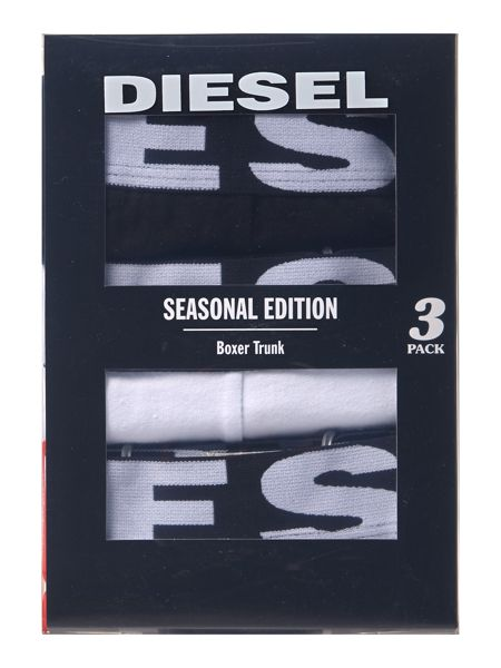 Diesel 3 pack of Block Colour Trunks