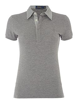 Short Sleeve Side Detail Polo Top