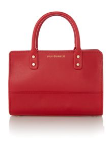 Lulu Guinness Daphne red smooth leather mini bag