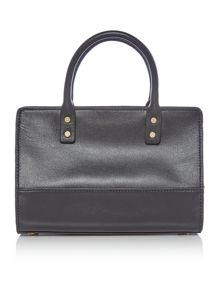 Lulu Guinness Daphne black smooth leather mini bag