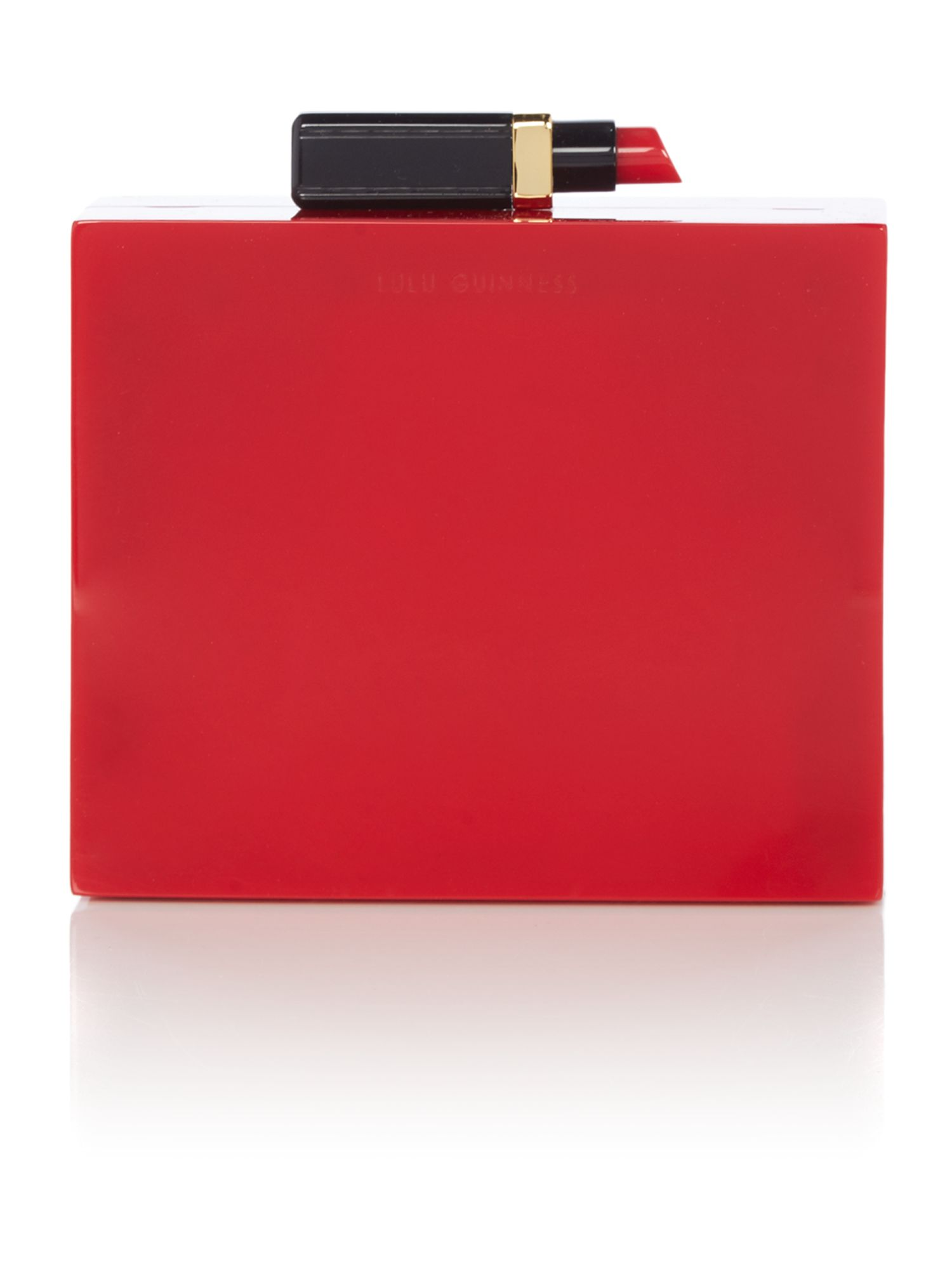 Lulu Guinness Chloe red perspex clutch bag Red