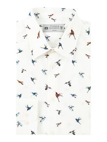 Turner & Sanderson Fawley Bird Print Shirt