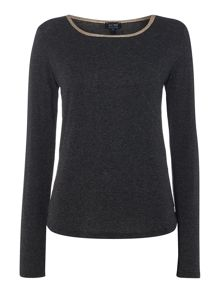 Armani Jeans Long sleeve contrast trim top
