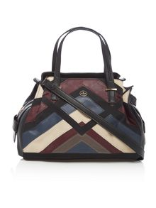 Nica Ava multi patchwork medium tote bag