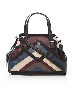 Ava multi patchwork medium tote bag