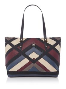 Nica Charlotte multi patchwork medium tote bag