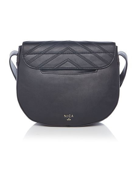 Nica Mila black cross body bag