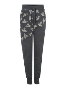 Vivienne Westwood Orb print cuffed sweat pants
