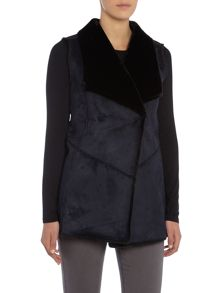 Armani Jeans Sleeveless faux fur jacket