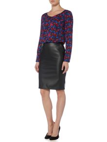 Armani Jeans Faux leather pencil skirt