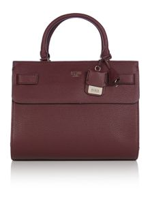 Guess Cate burgundy tote bag