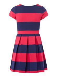 Polo Ralph Lauren Girls Block Stripe Fit & Flare Dress