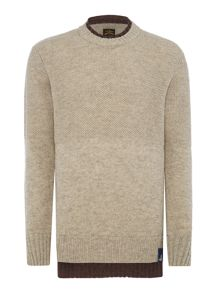 Vivienne Westwood Double collar waffle knit crew neck jumper